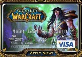 Carte Visa World of Warcraft