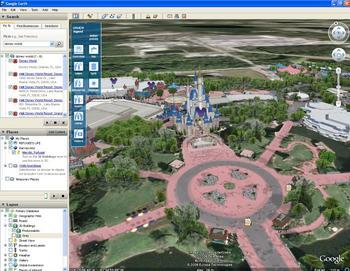 Disney World sur Google Earth