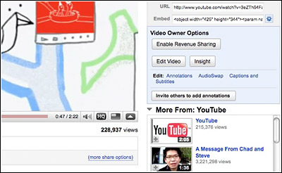 Youtube publicite
