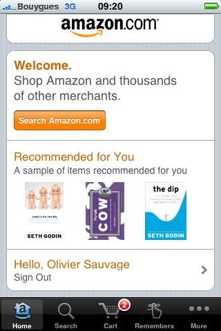 amazon appli iphone