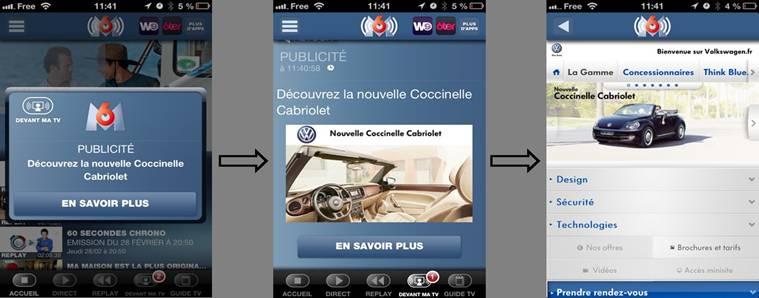 L'application mobile sur l'auto de M6