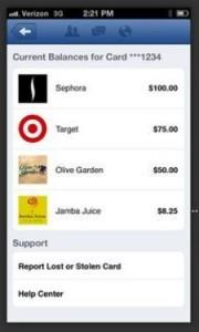 Exemple de l'espace de paiement avec Facebook
