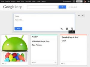 hello Google Keep