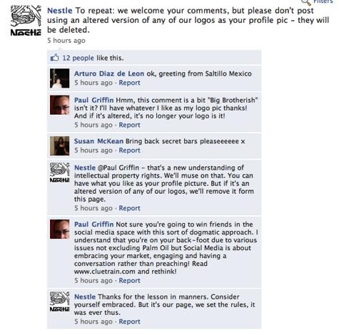 Facebook Nestle