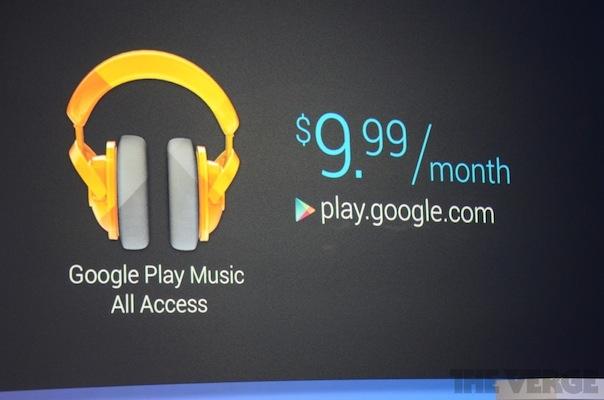 Le service de Google musique